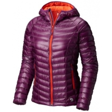 Women's Ghost Whisperer Hooded Down Jacket by Mountain Hardwear in Costa Mesa Ca