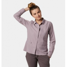 Women's Canyon Pro Long Sleeve Shirt by Mountain Hardwear in Cold Lake Ab