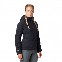 Women's Super/DS Stretchdown Hooded Jacket by Mountain Hardwear in Courtenay Bc