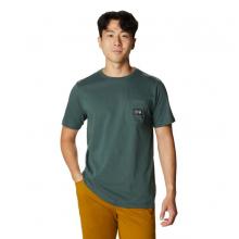 Men's MHW Logo Label Short Sleeve Pocket T by Mountain Hardwear in Golden CO