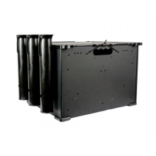 BlackPak, 12X16X11, Black, Includes lid and 3 rod holders by YakAttack