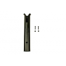 Side Mount Rod Tube, Black, Includes SS Hardware