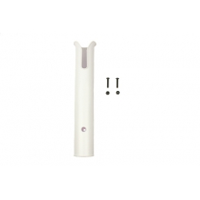 Side Mount Rod Tube, White, Includes SS Hardware