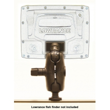 "Screwball Combo, Ball Mount for Lowrance Elite-5 & Mark-5 Series Fishfinders, Includes composite connector and 1.5"" Screwball by YakAttack"