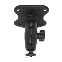 "Screwball Combo, Aluminum Base for the Humminbird 100, 300, 500, 700 Series and Matrix Series, Includes composite connector and 1"" Screwball. by YakAttack in Eureka Ca"
