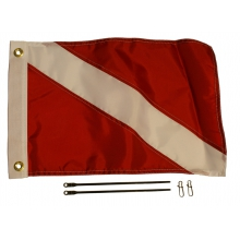 12 X 18 Diver Down Flag Kit