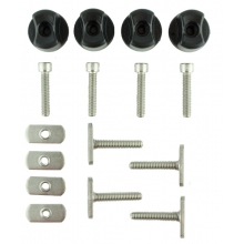 "GearTrac Hardware Assortment Kit, Includes 4 each of: 1.5"" MightyBolts, Threaded Knobs, Convertible Knobs, Track Nuts, Socket head cap screws by YakAttack in Clearwater Fl"