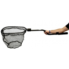 "Leverage Landing Net, 12"" X 20"" hoop, 47"" long, with extension and foam for storing in rod holder by YakAttack"