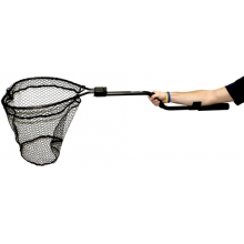 "Leverage Landing Net, 20"" X 21"" hoop, 46"" long, with extension and foam for storing in rod holder by YakAttack"