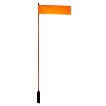 "VISIFlag, 52"" tall mast with flag, Mighty Mount / GearTrac ready by YakAttack"