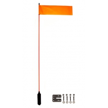"VISIFlag, 52"" tall mast with flag, Includes Mighty Mount by YakAttack"