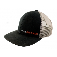 YakAttack BlackPak Logo Trucker Hat, Black/Tan by YakAttack
