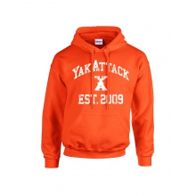 YakAttack College Hoodie, Orange by YakAttack