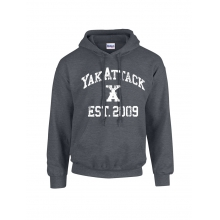 YakAttack College Hoodie, Charcoal Heather