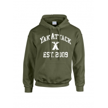 YakAttack College Hoodie, Military Green by YakAttack in Garfield AR