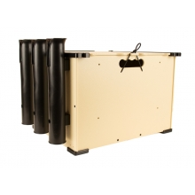 BlackPak, 12X16X11, Tan, Includes lid and 3 rod holders