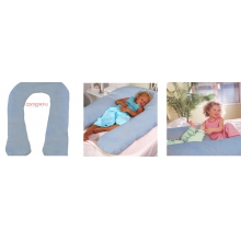 Comfort-U Kids Total Support Body Pillow with Plush Blue Cover by Moonlight Slumber