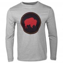 Men's Bison Patch Long Sleeve T- Shirt Classic Fit
