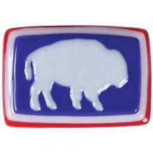 Glass Bison Buckle by Mountain Khakis in Bentonville Ar