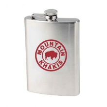 Stainless Steel Bison Flask by Mountain Khakis in Nibley Ut