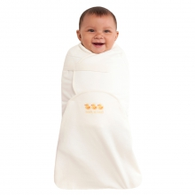 SwaddleSure Adj Swaddling Pouch 100% Cotton Cream Duck Newborn by Halo in Irvine Ca