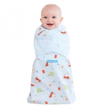 SwaddleSure Adj Swaddling Pouch 100% Cotton Blue Driving Dog Newborn by Halo in Irvine Ca