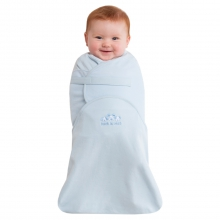 SwaddleSure Adj Swaddling Pouch 100% Cotton Blue Small by Halo