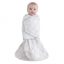 SleepSack Swaddle Cotton Muslin Alligator Blue Small by Halo in Los Angeles Ca