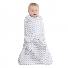 SleepSack Swaddle Cotton Muslin Chevron Taupe Newborn by Halo in Dothan Al