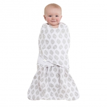 SleepSack Swaddle Cotton Muslin Gray Tree Leaf Newborn