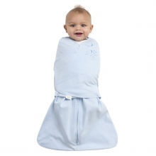SleepSack Swaddle, 100% Cotton, Baby Blue, SM by Halo