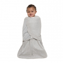 SleepSack Swaddle, 100% Cotton, Heather Gray, SM by Halo