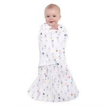 SleepSack Swaddle 100% Cotton MultiColor Triangle Small by Halo