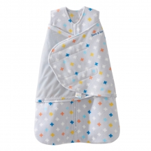 SleepSack Swaddle Micro-Fleece Multicolored Plus Signs Small by Halo