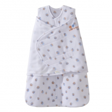 SleepSack Swaddle Micro-Fleece Blue/Orange Mixed Dots Newborn by Halo in Irvine Ca