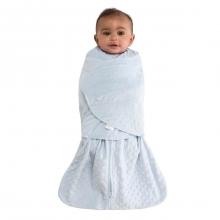 SleepSack Swaddle Velboa Blue Plush Dots Newborn by Halo