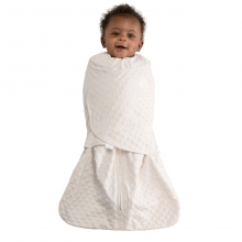 SleepSack Swaddle Velboa Cream Plush Dots Newborn
