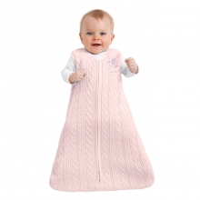 SleepSack Wearable Blanket Cotton Sweater Knit Pink by Halo