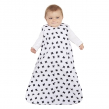 SleepSack Wearable Blanket Micro-Fleece Black and White Plus Signs Medium by Halo