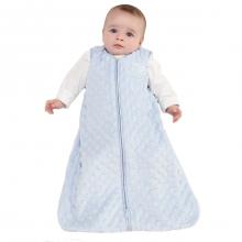 SleepSack Wearable Blanket Velboa Blue Plush Dots Large by Halo