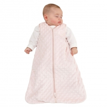 SleepSack Wearable Blanket Velboa Pink Plush Dots Large by Halo