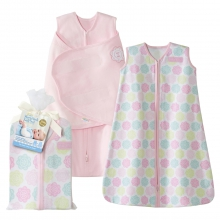 2 Piece Gift Set 100% Cotton Pink Flowers by Halo