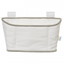 Bassinest Storage Caddy.  White with Gray Trim.
