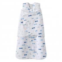 SleepSack Swaddle  Micro Fleece - Bowties Blue Size NB