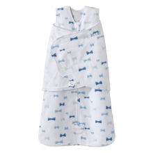 SleepSack Swaddle  Micro Fleece - Bowties Blue Size NB by Halo