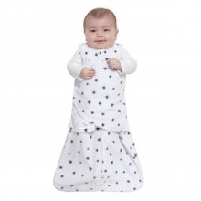 SleepSack Swaddle  Micro Fleece - Mini Stars Charcoal, Size SM by Halo