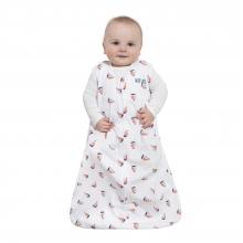 SleepSack Wearable Blanket Cotton Sailboat Navy, Size Med