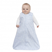 SleepSack Wearable Blanket Cotton Woodland Etch Blue, Size Med by Halo
