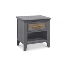 Beckett Nightstand In Stone and Dark Ash Finish by Franklin & Ben in La Quinta Ca