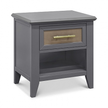 Beckett Nightstand In Stone and Dark Ash Finish by Franklin & Ben